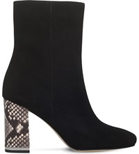 Michael Michael Kors Ursula Reptile Effect Suede Boots Blk Other