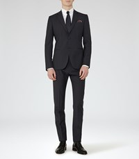 Reiss Hammond Mens Notch Lapel Suit In Blue