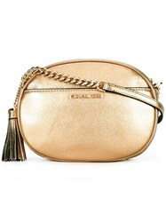 Michael Michael Kors Medium Ginny Studded Crossbody Bag Metallic