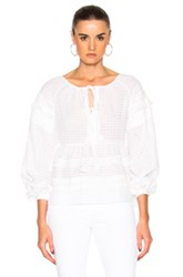 Tanya Taylor Clemence Top In White
