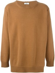 Ports 1961 Round Neck Sweater Brown