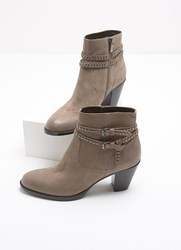 Mint Velvet Neve Taupe Stud Strap Boot Taupe