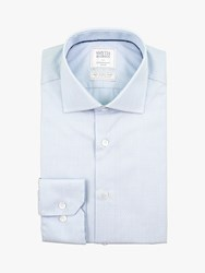 Smyth And Gibson Polka Dot Contemporary Fit Shirt Sky Blue