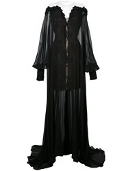 Mikael D. Mousselin Long Cape Dress Black