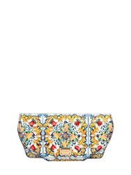 Dolce And Gabbana Maiolica Printed Leather Sunglasses Case