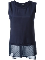 Armani Jeans Sleeveless Top Blue