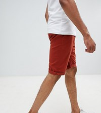 D Struct Tall Turn Up Chino Shorts Red