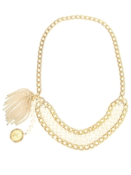 Chanel Vintage Pearl And Chain Belt Metallic