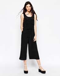 Monki Utility Jumpsuit Black