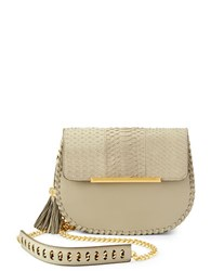 Brian Atwood Grace Leather Crossbody Grey
