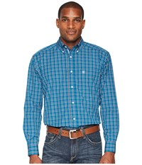 Ariat Fabe Shirt Azure Thistle Long Sleeve Button Up Blue
