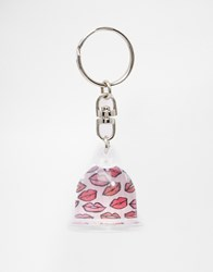 Paperchase Valentines Heart Photo Dome Keyring Multi