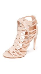 Casadei Caged Sandals Nude