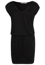 Bloom Jersey Dress Black