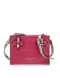 Francesco Biasia Hampstead Aurora Leather Crossbody Bag Fuchsia
