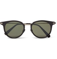 Brioni Round Frame Acetate And Gunmetal Tone Sunglasses Black