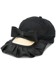 Bernstock Speirs Frill And Bow Cap Black