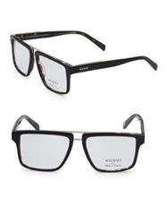 Balmain 59Mm Square Tortoiseshell Eyeglasses Black