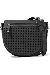 Rebecca Minkoff Astor Perforated And Textured Leather Shoulder Bag Black