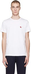 Burberry White Tunworth T Shirt