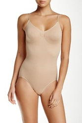 Heavenly Secrets Seamless Compression Bodysuit Plus Size Available Beige
