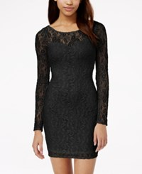 Material Girl Lace Illusion Bodycon Dress Only At Macy's Black