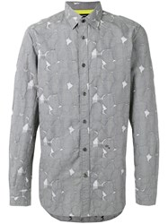 Diesel Blotch Print Shirt Grey