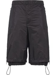 Prada Drawstring Cargo Shorts Black