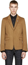 Diesel Black Gold Brown Camel Jallo Blazer
