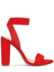 Steve Madden 100Mm Celebrate Elastic And Suede Sandals Red