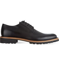 Dries Van Noten Cleat Leather Derby Shoes Black