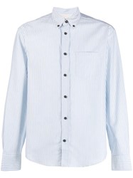 Acne Studios Classic Tailored Striped Shirt Blue