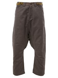 Ganryu Comme Des Garcons Drop Crotch Cropped Trousers Grey