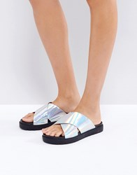 Prettylittlething Holographic Cross Over Slider Multi