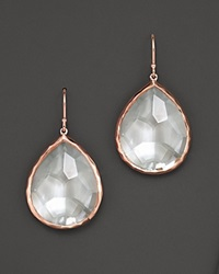 Ippolita Rose Large Teardrop Earrings With Clear Quartz No Color