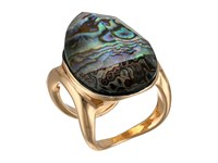 Robert Lee Morris Abalone And Gold Stone Ring Abalone Ring Beige
