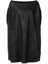 Kaufman Franco Kaufmanfranco Shearling Cape Black