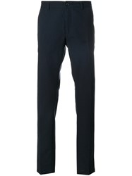 Department 5 Gradient Tailored Trousers Cotton Virgin Wool Blue