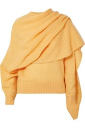 Rejina Pyo Colette Draped Mohair Blend Sweater Yellow