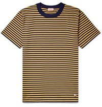 Armor Lux Striped Cotton Jersey T Shirt Yellow