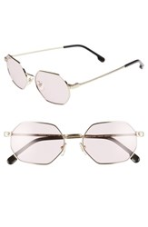 Versace 53Mm Hexagon Sunglasses Gold Pink Solid Gold Pink Solid