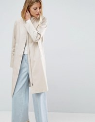 Asos Trench With Minimal Styling Pink