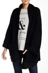 Wildfox Couture Boucle Knit Slouch Cardigan Black