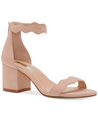 Inc International Concepts Hadwin Scallop Block Heel Sandals Only At Macy's Women's Shoes Pink Bloom