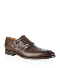 Magnanni Almond Leather Double Monk Male