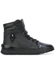 Eat My Dust 'Comet Pyramid' Hi Top Sneakers Black