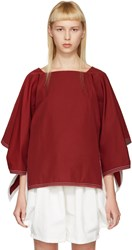Chloe Red Boatneck Blouse