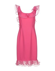 Gai Mattiolo Knee Length Dresses Fuchsia