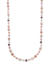Charter Club Long Beaded Statement Necklace Only At Macy's Rose Gold