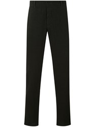 Transit Tapered Trousers Men Linen Flax M Black